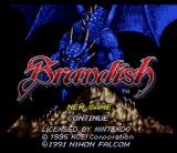 Brandish SNES Title screen