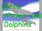 Bert's Whales and Dolphins DOS The game's title screen