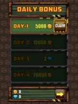 Redhead Redemption iPad You get a day 1 bonus of 5000 coins