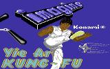 Yie Ar Kung-Fu Commodore 64 Title screen