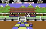 Yie Ar Kung-Fu Commodore 64 Leaping through the air to avoid being hit by a chain