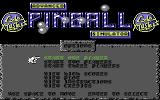 Advanced Pinball Simulator Commodore 64 Title screen