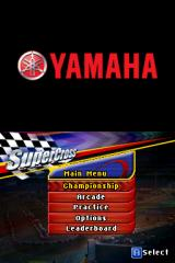 Yamaha Supercross Nintendo DS Main menu