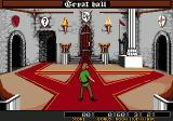 Dark Castle Genesis Level selection screen in the Great Hall