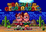 Dashin' Desperadoes Genesis Title screen