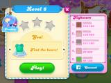 Candy Crush Soda Saga iPad Level 6 has a new goal to uncover the bears. (pictures and names blurred for privacy)