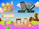 Candy Crush Soda Saga Browser Title and loading screen