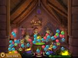 Bubble Witch Saga iPad When you clear the level, any remaining bubbles on the ceiling rain down.