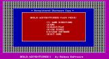 Bolo Adventures I DOS The game's menu