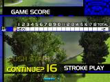 Virtua Golf Arcade After two holes the game has to be continued