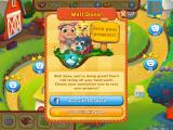 Farm Heroes Saga iPad You are encouraged to connect to Facebook or King.com''s own Kingdom to save your data. (pictures and names blurred for privacy)