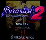 Brandish 2: The Planet Buster SNES Title screen