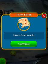 Pyramid Solitaire Saga iPad You've got 5 extra cards, if you need them.