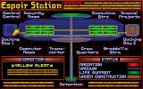 Star Trek: Judgment Rites DOS Map of Espoir Station. (FEDERATION episode)