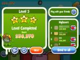 Papa Pear Saga iPad Then you see the after-level stats (pictures and names blurred for privacy)