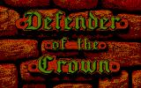 Defender of the Crown DOS Title screen (CGA)