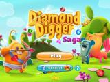 Diamond Digger Saga iPad Title screen with Valentine's Day decorations