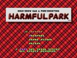 Harmful Park PlayStation Title screen (after the intro).