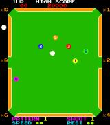 Billiards Arcade Game in progress