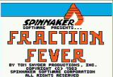 Fraction Fever Apple II Title screen
