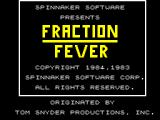 Fraction Fever ZX Spectrum Title screen