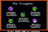 Word Munchers Apple II The Troggles featured in the game