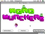 Word Munchers Macintosh Title screen (color)