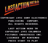 Last Action Hero NES Title screen