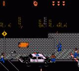 Last Action Hero NES Chased by thugs and policemen on the streets.