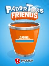 Paper Toss Friends iPad Title and loading screen