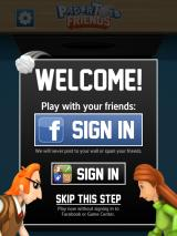 Paper Toss Friends iPad Welcome screen
