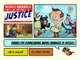 Middle Manager of Justice iPad Title and main menu