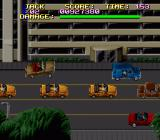 Last Action Hero SNES Cars can jump higher than in the Genesis version.