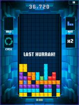 Tetris Blitz iPad Last Hurrah! All the empty spaces will collapse down, making any full lines it can, if there are any to make.