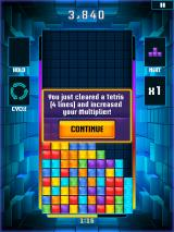 Tetris Blitz iPad I just cleared a Tetris (4 lines) and increased my multiplier.