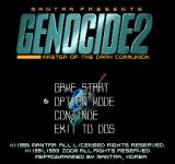 Genocide 2: Master of the Dark Communion DOS Main menu