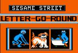 Sesame Street: Letter-Go-Round Apple II Title Screen