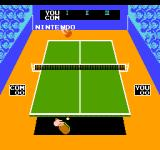 Ping Pong NES Serving the first ball.