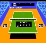 Ping Pong NES Select a difficulty level.