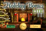 Holiday Bonus iPhone Title and main menu. As this is the 'try-before-you-buy' lite version, they encourage you to buy the full version.