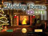 Holiday Bonus iPad Title and main menu. As this is the 'try-before-you-buy' lite version, they want me to pay for the full game.