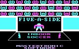 Five-a-Side Soccer PC Booter opening title screen