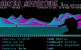 Arctic Adventure DOS Title Screen