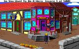 Hero's Quest: So You Want To Be A Hero Amiga Just the beginning, in front of the sheriff's office