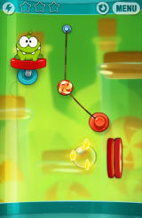 Cut the Rope: Experiments Android The suction cup behaves according to the laws of physics
