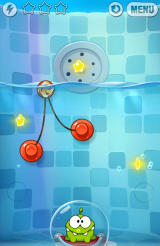 Cut the Rope: Experiments Android Suction cups flow in the water like a medusa