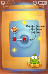 Cut the Rope: Experiments Android New element - rotating arms