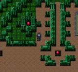 Cyber Knight SNES In a greenish dungeon
