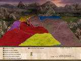 Seven Kingdoms II: The Fryhtan Wars Windows Campaign mode, world map between missions.