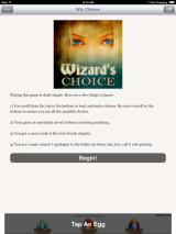 Wizard's Choice Volume 1 iPad Starting the story